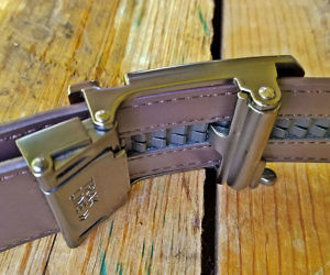 No Holes Track Leather Belt