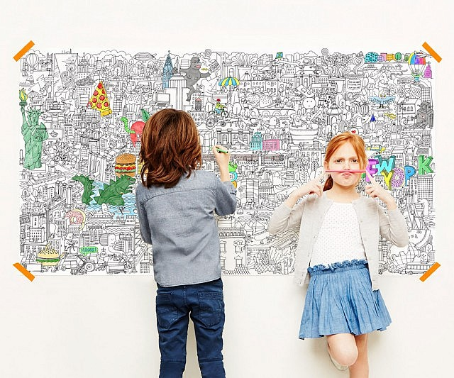 NYC Coloring Poster