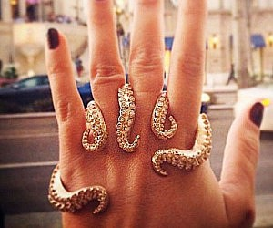 Diamond Octopus Tentacles Ring