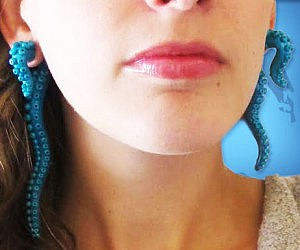 Octopus Tentacle Earrings