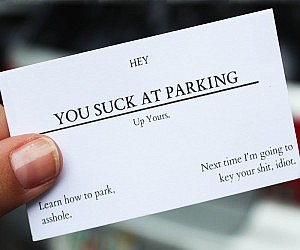 Business You Suck Cards Parking At