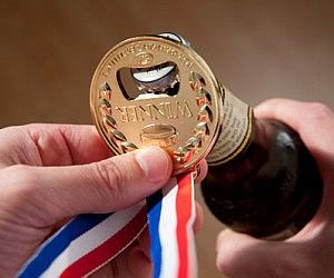 Olympic Gold Medal Bottle Opener
