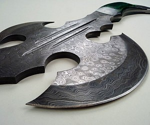 One Handed Damascus Axe