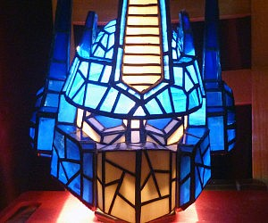 Optimus Prime Stained Glass Lamp