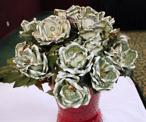 How to Make Flowers out of Dollar Bills - YouTube | 250x300