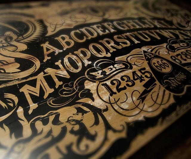 Board Coffee Table - Ouija coffee table