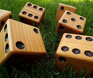Oversized Wooden Dice