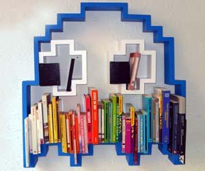 Lovely Pac Man Ghost Bookshelf Design