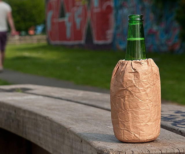 Brown Paper Bag Beer Koozie