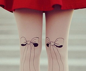 Bowtie Nude Tights