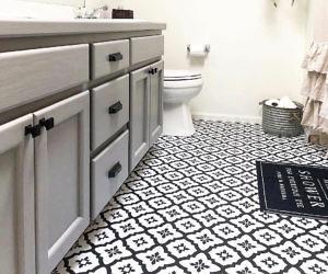 Peel & Stick Floor Tile Decals