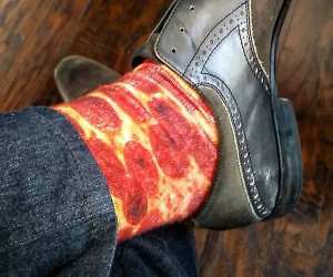 Pepperoni Pizza Socks