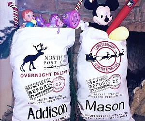 The gift of nothing personalized gift sacks from santa negle Images