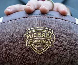Personalized Groomsmen Football