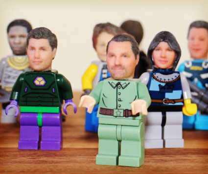 D Printed LEGO Heads - Thanks to 3d printing you can now print a lego head of yourself