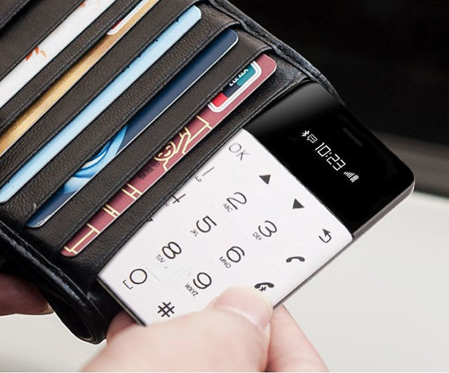 Minimalistic Credit Card Sized Phone