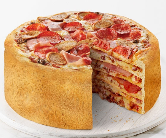 Tiered Pizza Cake