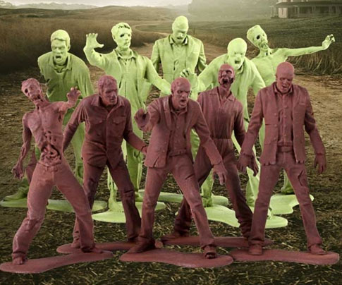 Plastic Zombie Army Men