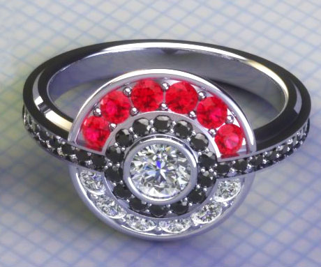 Pokeball Engagement Ring