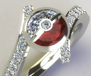 Pokemon Diamond Engagement Ring