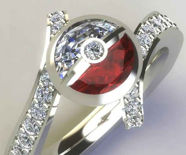wedding anime inspired weddg rings rg