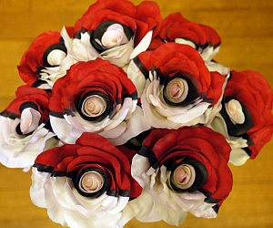 Colored Pokeball Roses