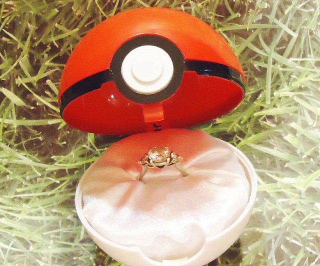 Double Ring Box For Wedding Ceremony 71 Fabulous Pokemon Engagement Ring Box