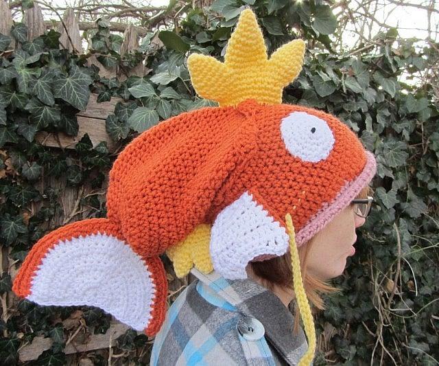 Crocheted Pokemon Magikarp Hat