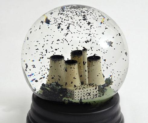 Pollution Snow Globe