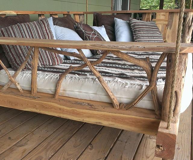 Elegant Porch Swing Bed