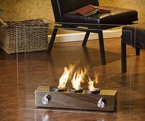 Spectacular Mini Glass Fireplace