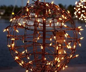 Pre-Lit Metal Sphere