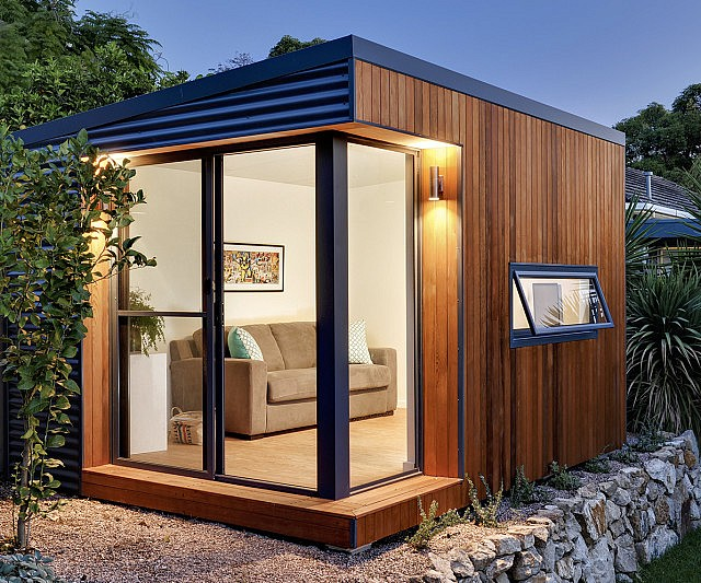 Wonderful Prefabricated Backyard Office Amazing Ideas