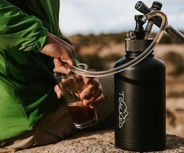 pressurized beer growler keg