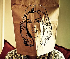 Pretty Face Paper Bag