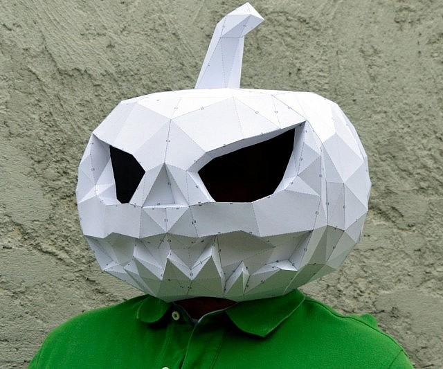 papercraft pumpkin mask
