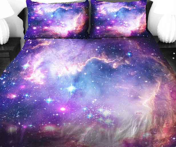 New Purple Galaxy Bed Covers