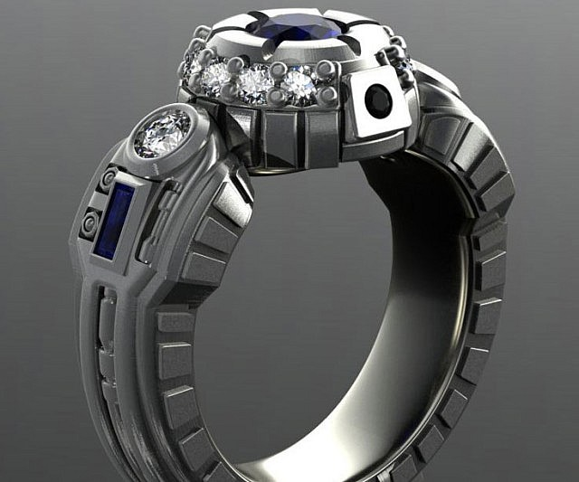 R2 D2 Engagement Ring