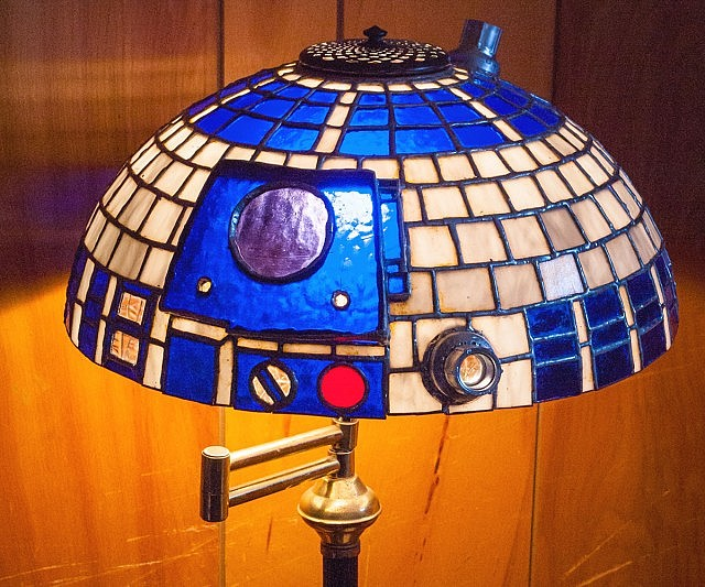 D2 stained glass lampshade r2 d2 stained glass lampshade mozeypictures Choice Image