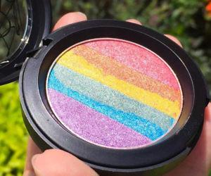 Rainbow Blush Makeup