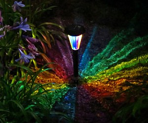 Rainbow Kaleidoscope Solar Path Light