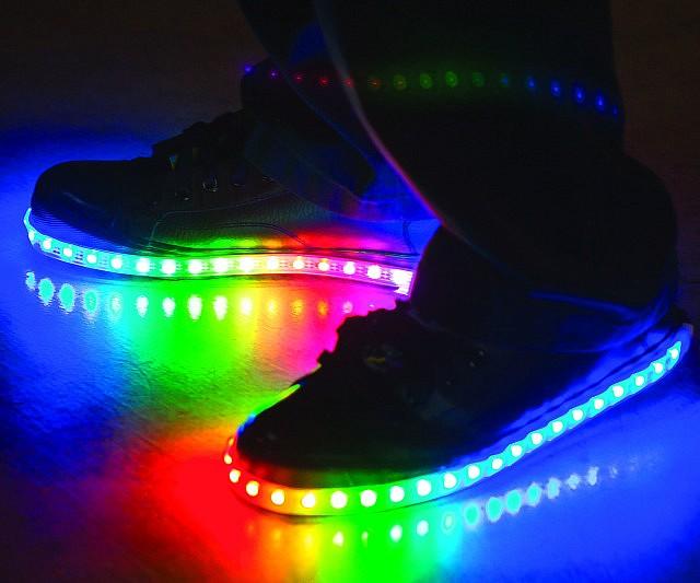 Shoes Led Diy Diy Led Shoes Rainbow Diy Rainbow Rainbow OkTwZiluPX