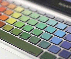 MacBook Rainbow Keyboard