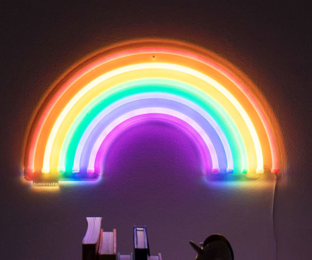 Rainbow Neon Wall Light