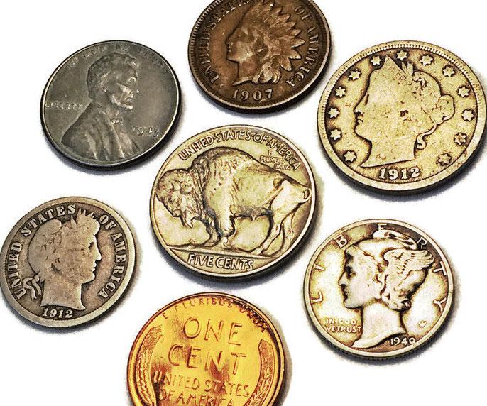 Vintage Rare Coins Set