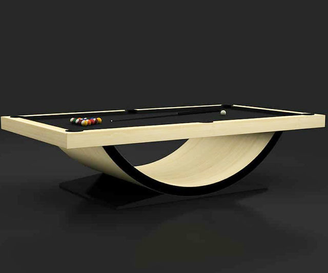 11 Ravens Curved Base Pool Table