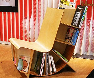 Reading Chair Book Rack