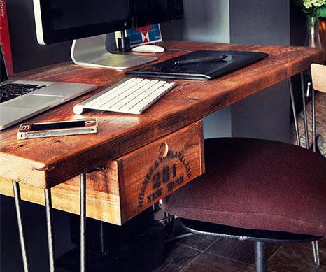 Rustic Reclaimed Wood Desk