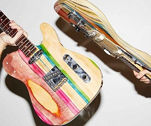 Recycled Skateboard Deck Guitar