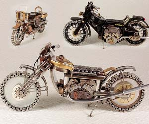 Recycled Watch Motorcycles